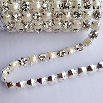 Cheap Rhinestones, Buy Directly from China Suppliers:     The store similar products      Hight Quality SS16 Crystal AB Crystal Strass 10 Yards Silver Base Rhine