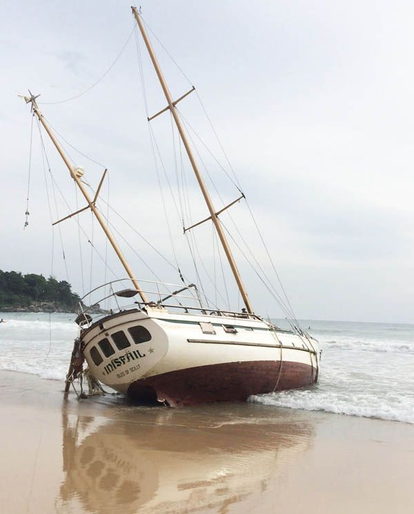 Let's hope this skipper has boat insurance. Here is the annual review of boat insurance providers. #boatinsurance  #boating #yachts #sailboats