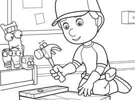 Disney Junior | Drucken und Ausmalen - Meister Manny's Werkzeugkiste