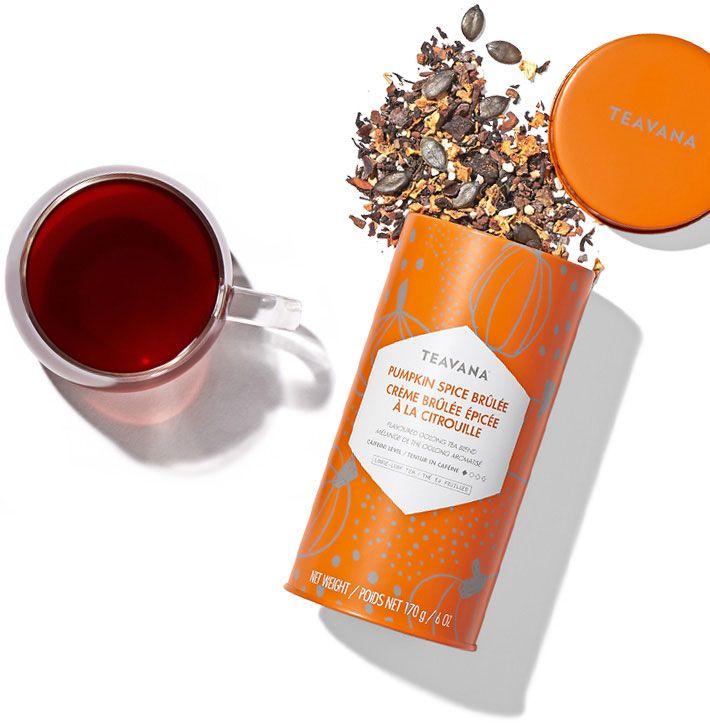 Mmmmm ... fill your cup with fall flavor!  Teavana's Pumpkin Spice Brûlée tea.