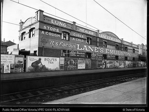 East Richmond Station c.1920s to c.1939 by Public Record Office Victoria