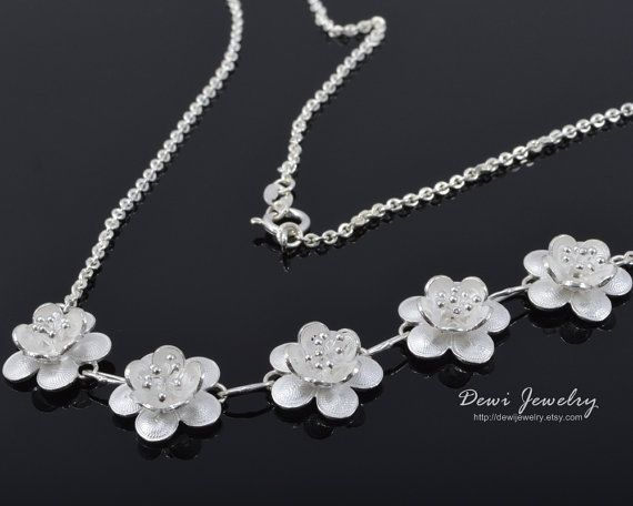 Jambu Sari Necklace - 925 Sterling Silver Filigree - Handmade Jewelry - Necklace - Silver Necklace #etsymnt #sterlingsilver