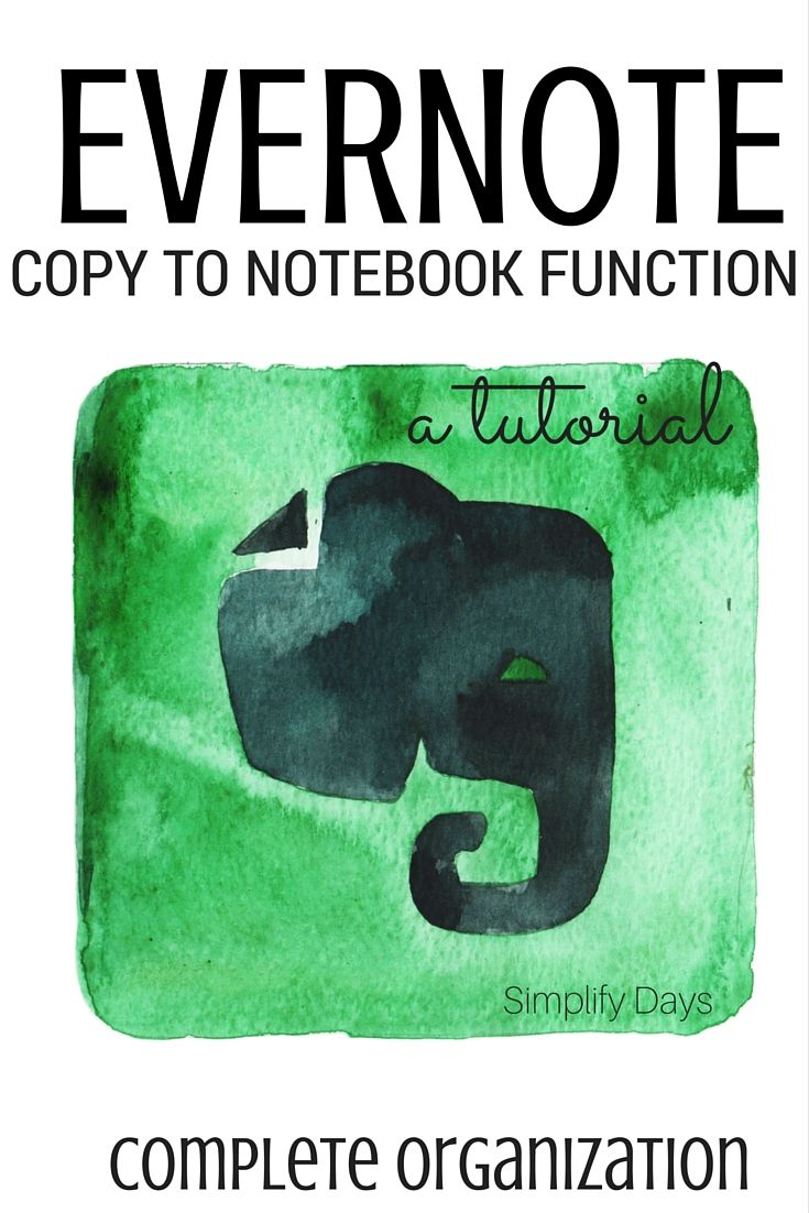 Learn how to easily create an exact copt of any note within Evernote and how to best use this function. // Simplifydays.com