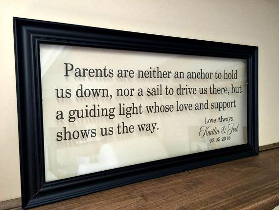 Parents Thank You Wedding Gift Parents of the by TheBindingTie