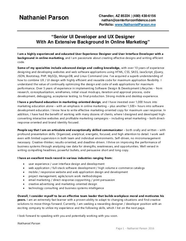 Ecommerce Developer Resume Format In 2020