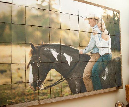 DIY Wedding Table Decoration Ideas - Entrance Hall Photo Mosaic - Click Pic for 46 Easy DIY Wedding Decorations