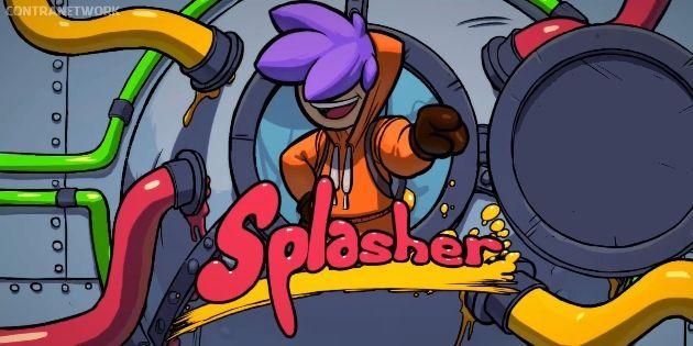 Erstes Gameplay-Material zu Splasher für die Nintendo Switch gesichtet: Wenn Entwickler versuchen, Portal und Super Meat Boy miteinander zu…