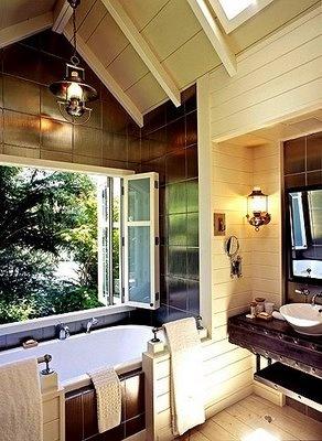 Bathroom with a view... Huka Lodge