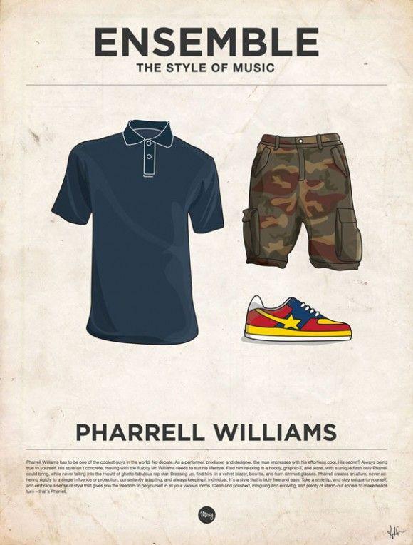 Musique, affiches minimalistes et vêtements vetements habits musique poster affiche minimaliste 17 design