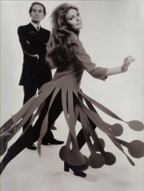 1970 - Pierre Cardin & Raquel Welch in Cardin by Terry O Neill
