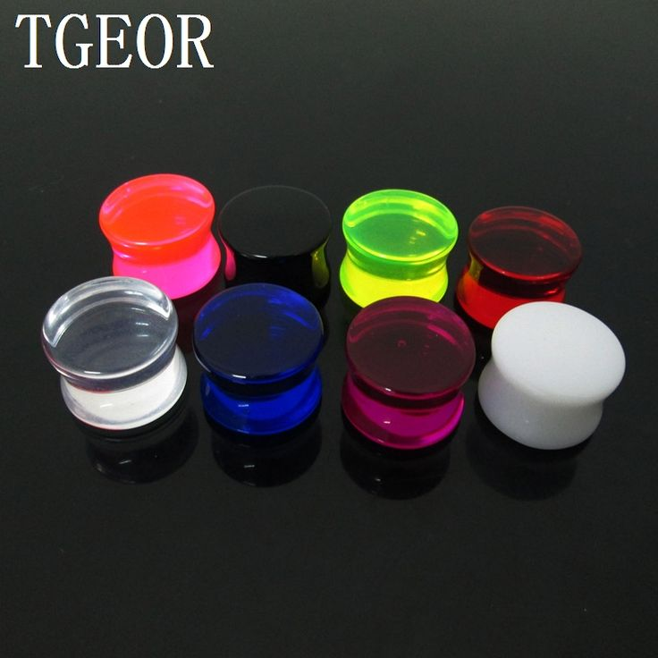 free shipping NICE piercing body jewelry 1 Pair mixed gauges clear Transparent ear expander saddle acrylic ear plug GOOD * More info could be found at the image url.