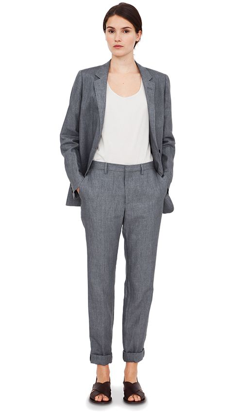 Margaret Howell *High-twist linen *Sandals with a suit.*Make it simple, but significant. --Don Draper