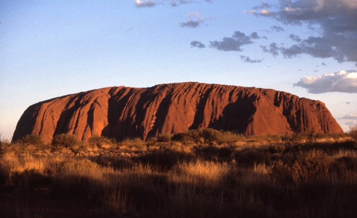 Ayers Rock in the heart of Australia.