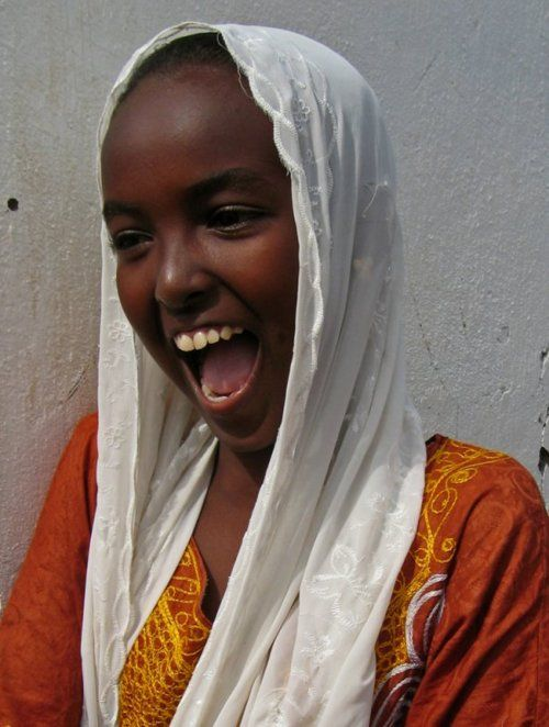 wonderful smile from Djibouti   Laughter travels around the world on Global Belly Laugh Day, January 24