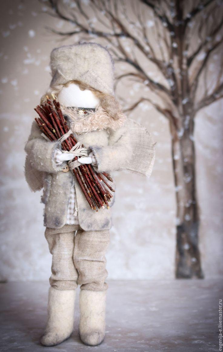 """Купить """"Ангел добрых дел"""" кукла-образ - серый, ангел, зимний, Новый Год"""