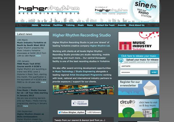 Higher Rhythm Web Design Doncaster