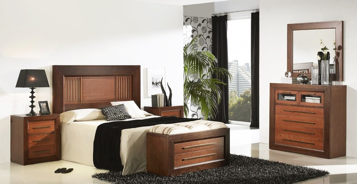 Dormitorio de matrimonio realizado en madera de pino - Muebles para dormitorio matrimonial ...