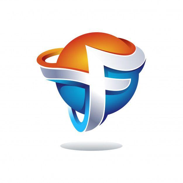 Creative 3d Letter F Logo Design Premium Premium Vector Freepik Vector Logo Business Card Design Logo Design Globe Logo Letter F