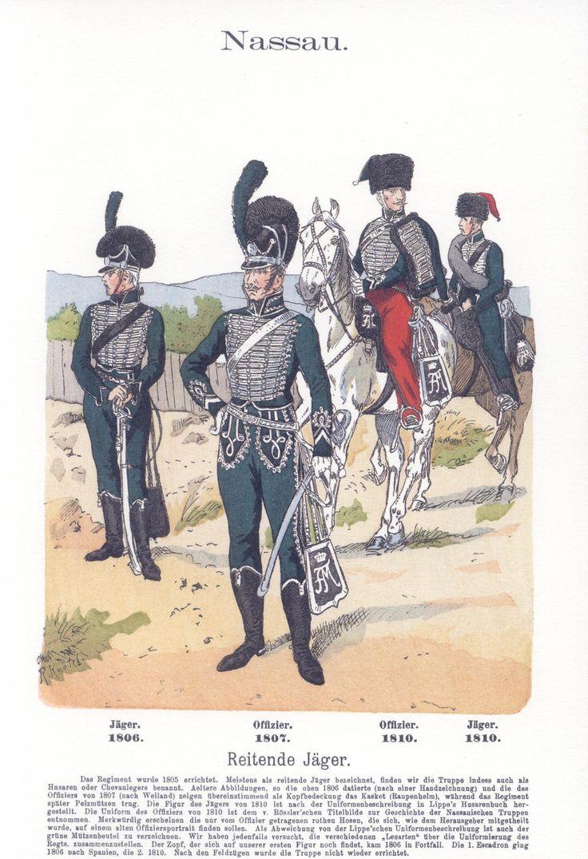 Vol 05 - Pl 14 - Nassau. Reitende Jäger. 1806-1810.
