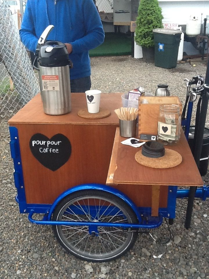 Coffee cycle cart