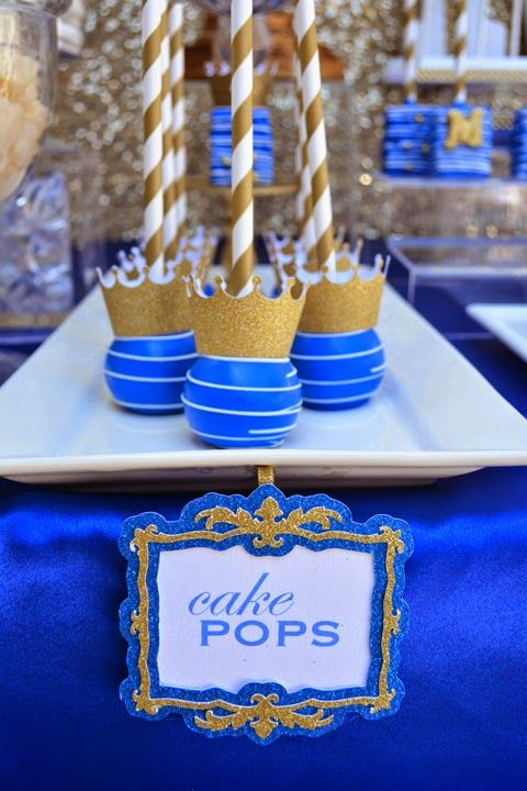 It's a ROYAL affair. Royal crowned cake pops.