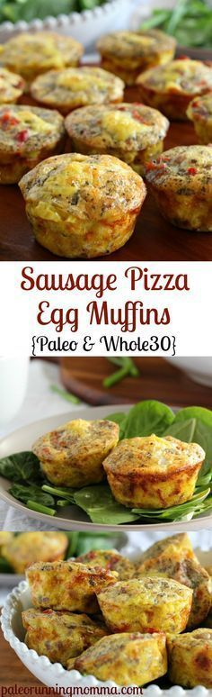 Sausage Pizza Egg Muffins {Paleo and Whole30} - easy #paleo, #whole30, and #lowcarb breakfast or brunch - great to make ahead!
