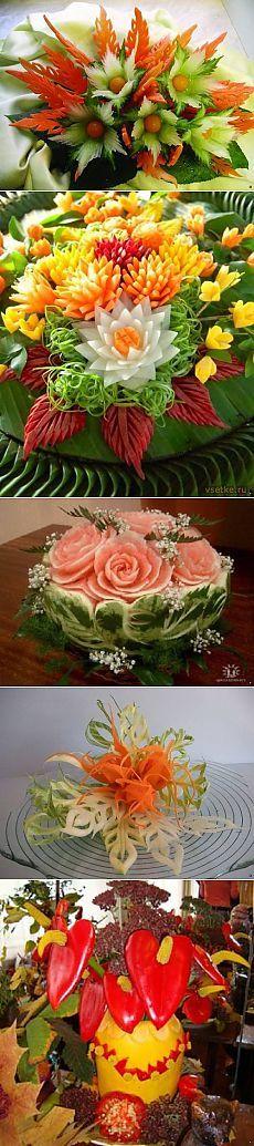Oyma - oyma meyve ve sebze sanatı