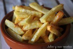 Patatas fritas que no se fríen...¿Cómo? No te pierdas los consejos y la elaboración de estas peculiares patatas del blog JULIA Y SUS RECETAS.