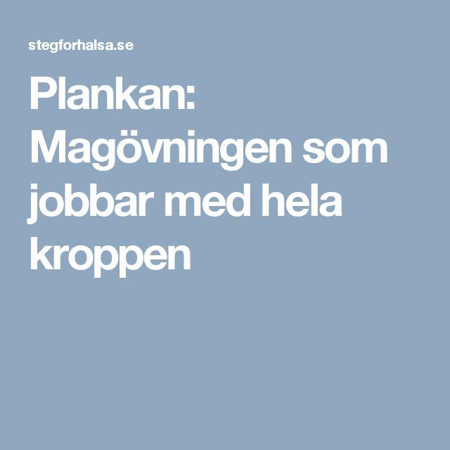 Plankan: Magövningen som jobbar med hela kroppen