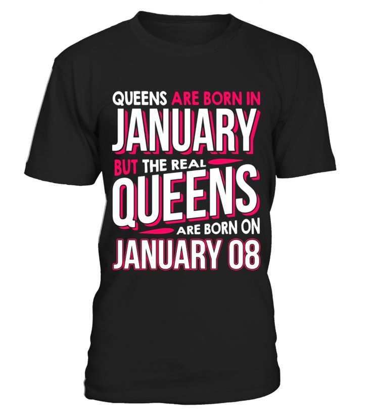 Real Queens Are Born On January 8 T-shirt 8th Birthday  Funny halloween haunt T-shirt, Best halloween haunt T-shirt