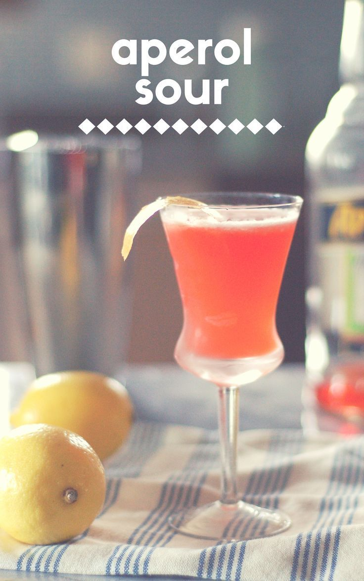 The Aperol Sour. A light and lovely tart brunch-friendly cocktail. From Blossom to Stem | Because Delicious http://www.blossomtostem.net