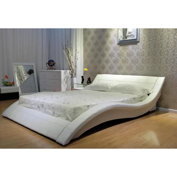 Black Wave like Shape Upholstered King Bed   Overstock  Shopping   Great  Deals on. 48 best Bed shopping images on Pinterest   Platform beds  3 4 beds