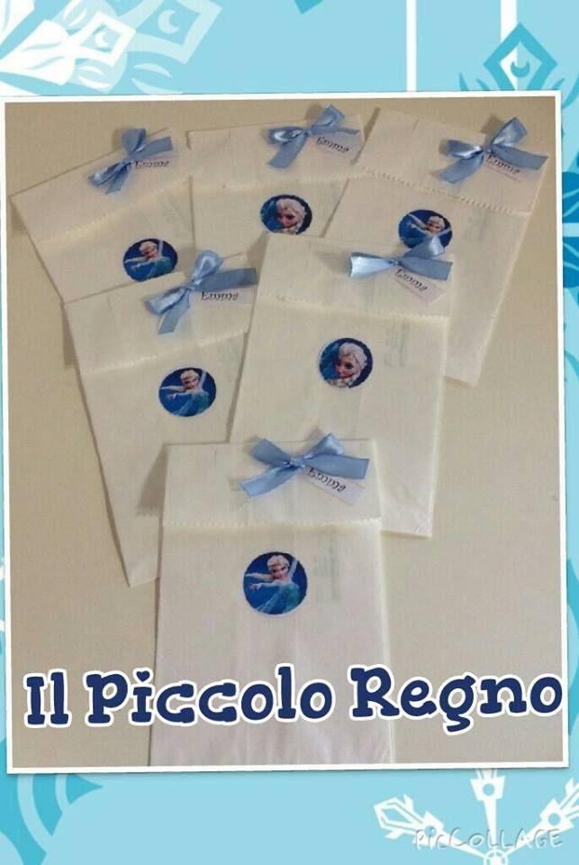 Sacchetti per regalo invitati di Frozen!!!