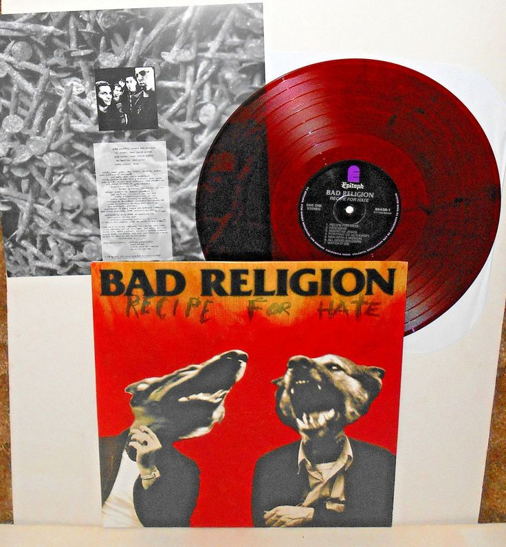 BAD RELIGION recipe for hate LP Record BROWN Vinyl with lyrics insert #punkPunkNewWave