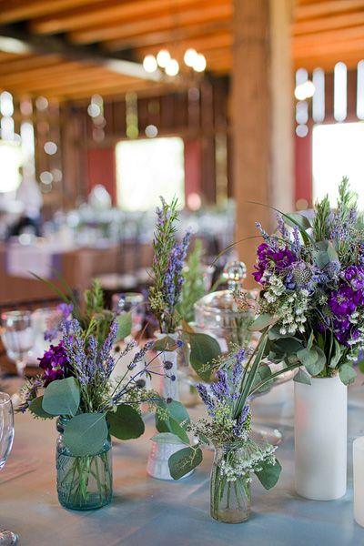 Wildflower Reception Table Centerpieces - Elizabeth Anne Designs: The Wedding Blog
