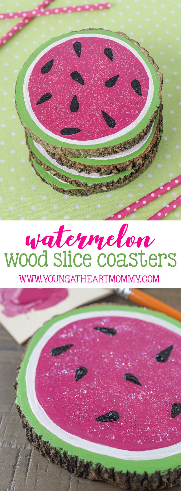 Is there anything cuter than a watermelon coaster to place your cold drink on during a sunny day outside? Sweeten up wood slices with a touch of paint and hint of glitter for the perfect summer table decor. From pineapples and strawberries to watermelons and oranges, the fruit-filled trend has taken over! This year summer …