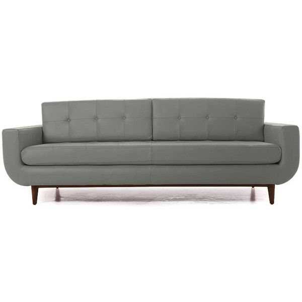 Joybird Gervin Mid Century Modern Gray Leather Sofa ($3,383) ❤ liked on Polyvore featuring home, furniture, sofas, grey, grey leather couch, gray leather sofa, grey leather sofa, midcentury modern sofa and mid century modern leather sofa