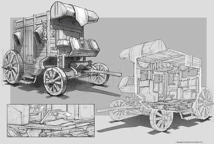 Feng Zhu Design: RPG Game Cutaways