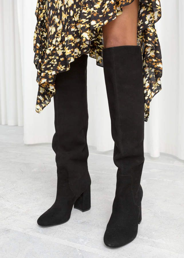 Knee High Suede Boots Suede Boots Knee High Black Knee High Boots Black Suede Boots