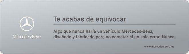 Publicidad de Mercedes Benz al teclear mal una dirección web (typosquatting)