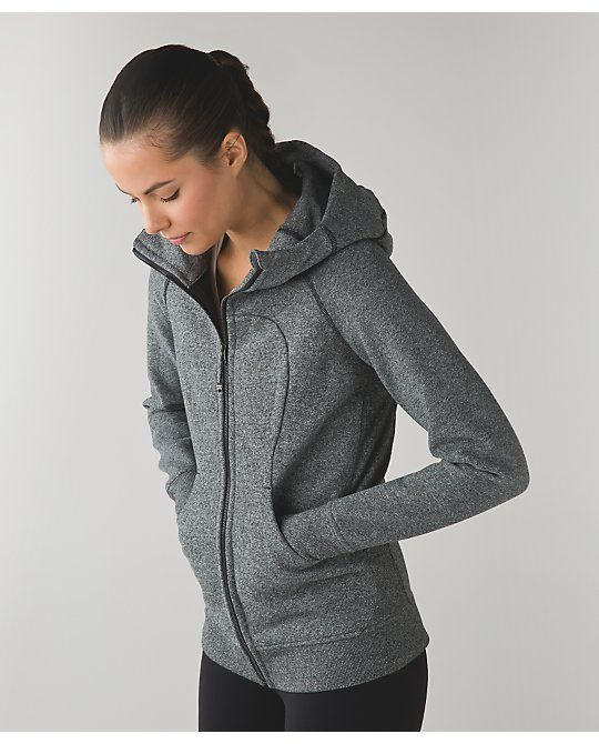 Lululemon Scuba Hoodie III - heathered speckled black, size 6
