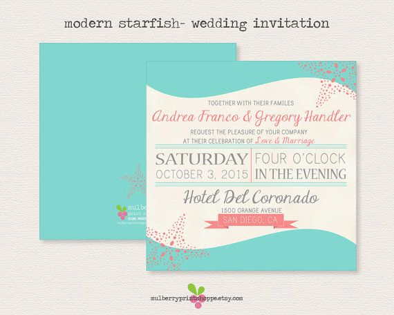 17 Best images about BC wedding invitation inspiration on – Modern Beach Wedding Invitations