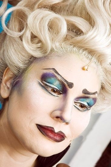 [Ursula makeup] Great lid detail and hairline details. Fix brows and lips. from The Little Mermaid On Broadway