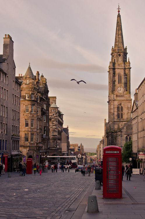 The Royal Mile in Edinburgh, Scotland.