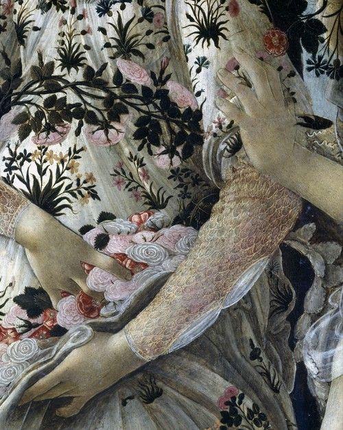 Primavera, Botticelli, detail, 1482