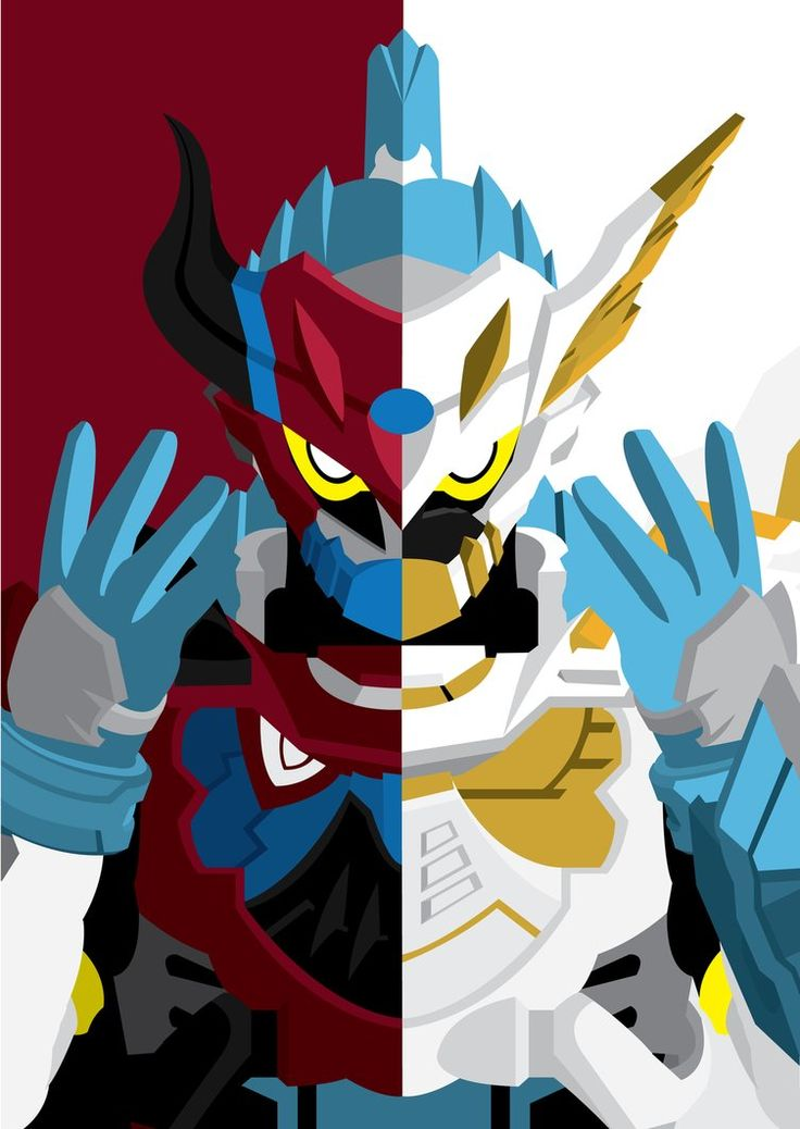 Kagami Hiiro as Kamen Rider Brave, Level 50 Taddle Fantasy(Left), Level 100 Taddle Legacy(Right)