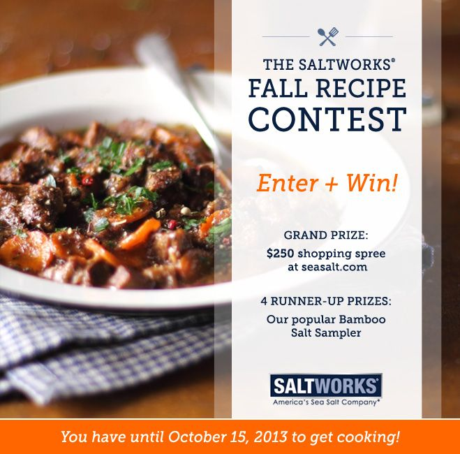 10 best saltworks recipe contests images on pinterest recipe its time to get cookinge saltworks fall recipe contest is here forumfinder Gallery