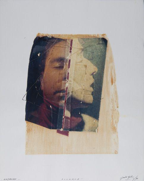Paolo Gioli, Maschere, 1990, polarodi, 50x40 cm