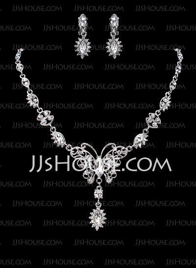 Smykker - $19.99 - Smykker sett Jubileum bryllup engasjement Bursdag Gift Party Daily Alloy med rhinestones sølv Smykker med Rhinestone (011019310) http://jjshouse.com/no/Smykker-Sett-Jubileum-Bryllup-Engasjement-Bursdag-Gift-Party-Daily-Alloy-Med-Rhinestones-Solv-Smykker-Med-Rhinestone-011019310-g19310