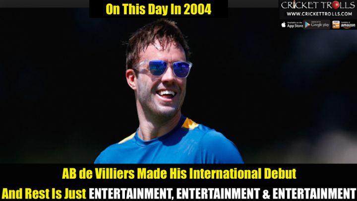 On 17th December 2004 AB de Villiers played his first Test match against England - http://ift.tt/1ZZ3e4d